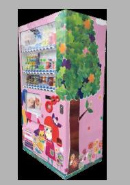 女性、子供向け実績⑨チャリティー自動販売機デザイン制作
